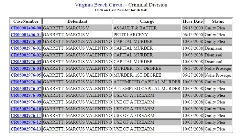 Virginia Circuit Court Case Information